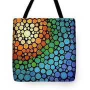 Colorful Mosaic Art - Blissful Tote Bag
