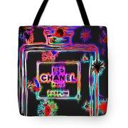 Colorful Neon Chanel Five  Tote Bag