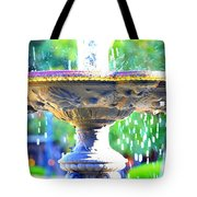Colorful New Orleans Fountain Tote Bag