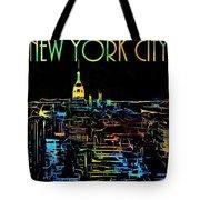 Colorful New York City Skyline Tote Bag