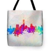 Colorful New York Skyline Tote Bag