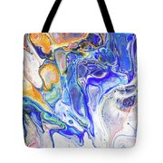 Colorful Night Dreams 5. Abstract Fluid Acrylic Painting Tote Bag