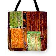 Colorful Old Barn Wood Tote Bag
