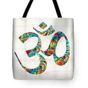 Colorful Om Symbol - Sharon Cummings Tote Bag