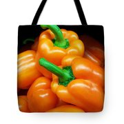 Colorful Orange Bell Peppers Tote Bag