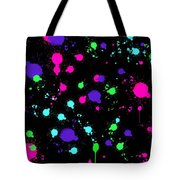 Colorful Paint Splatters Tote Bag