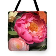 Colorful Paper Flower Blossoms  Tote Bag