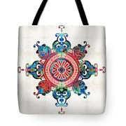 Colorful Pattern Art - Color Fusion Design 3 By Sharon Cummings Tote Bag