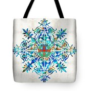 Colorful Pattern Art - Color Fusion Design 5 By Sharon Cummings Tote Bag
