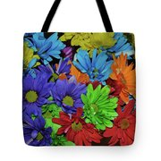 Colorful Petals Tote Bag