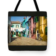Colorful Piazza Tote Bag