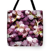 Colorful Pink Tasty Grapes In The Basket Tote Bag