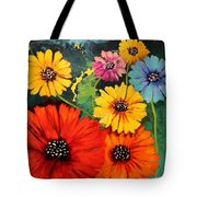 Colorful Poppy Warm No.1 Tote Bag