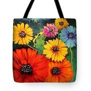 Colorful Poppy Warm No.1 Tote Bag