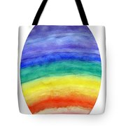 Colorful Rainbow Colored Egg Tote Bag