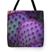 Colorful Rainbow Of Cactus Pads  Tote Bag