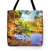 Colorful Reflections Tote Bag by Kristin Elmquist