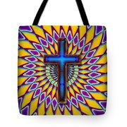 Colorful Retro Cross Tote Bag