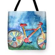 Colorful Ride- Bike Art By Linda Woods Tote Bag