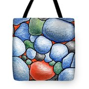 Colorful Rock Abstract Tote Bag
