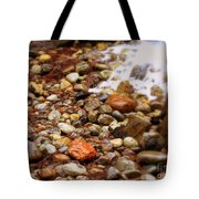 Colorful Rocks With Waterfall Tote Bag
