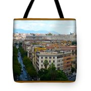 Colorful Rome Cityscape Tote Bag