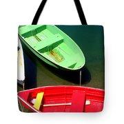 Colorful Row Boats Tote Bag