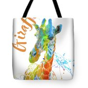 Colorful Safari Animals D Tote Bag