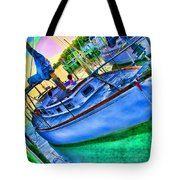 Colorful Sailboat Tote Bag
