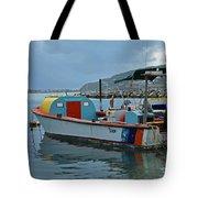 Colorful Saint Martin Power Boat Caribbean Tote Bag
