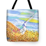 Colorful Seagull Tote Bag
