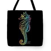 Colorful Seahorse Tote Bag