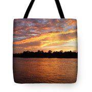 Colorful Sky At Sunset Tote Bag