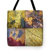Colorful Slate Tile Abstract Composite Sq1 Tote Bag