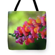 Colorful Snapdragon Tote Bag
