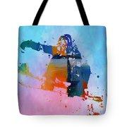 Colorful Snowboarder Paint Splatter Tote Bag