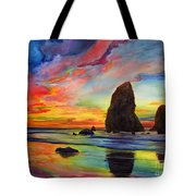 Colorful Solitude Tote Bag
