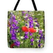 Colorful Spring Wild Flowers Tote Bag