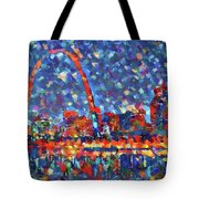 Colorful St Louis Skyline Tote Bag