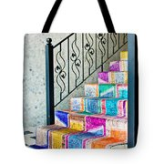 Colorful Stairs Tote Bag