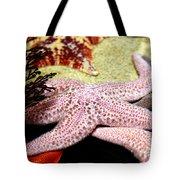 Colorful Starfish Tote Bag