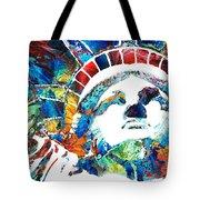 Colorful Statue Of Liberty - Sharon Cummings Tote Bag
