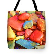 Colorful Stones Tote Bag