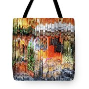 Colorful Street Cafe Tote Bag
