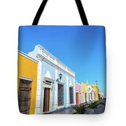 Colorful Street In Campeche, Mexico Tote Bag
