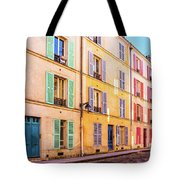 Colorful Street In Paris Tote Bag