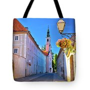 Colorful Street Of Baroque Town Varazdin  Tote Bag