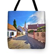 Colorful Street Of Baroque Town Varazdin View Tote Bag