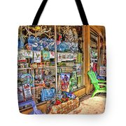 Colorful Streets Of The City Of Stuart Tote Bag