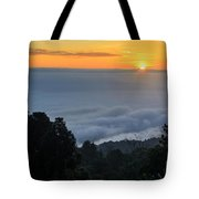 Colorful Sunrise Above The Clouds Tote Bag